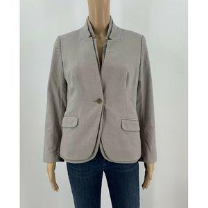 J.Crew Suit Jacket Blazer Size 4 Gray Textured